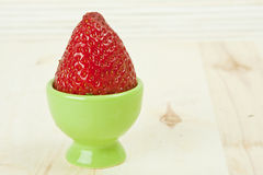 Strawberry in green Royalty Free Stock Images