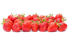 Strawberry group on white Royalty Free Stock Images