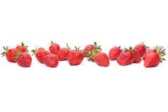 Strawberry group on white Stock Photo