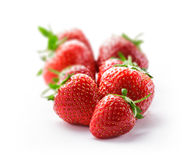 Strawberry group on white. In studio Stock Photography