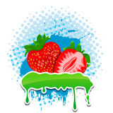 Strawberry grunge vector frame four your text. Bananas grunge frame four your text Vector Illustration