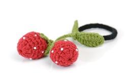 Strawberry hair elastic band isolated on white background Stock Photo