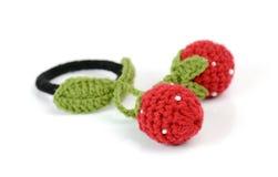 Strawberry hair elastic band isolated on white background Stock Image