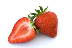 Strawberry and a half Stock Photos