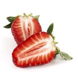 Strawberry half Stock Photography