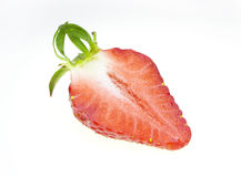 Strawberry half Royalty Free Stock Image