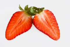 Strawberry halves Royalty Free Stock Photos