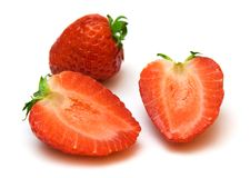 Strawberry halves Stock Photography