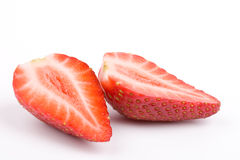 Strawberry halves Royalty Free Stock Images
