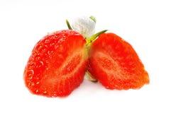 Strawberry Halves Royalty Free Stock Photography