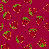 Strawberry hand drawn seamless wallpaper. Vector Strawberry hand drawn seamless wallpaper Stock Photography