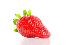 Strawberry in the hands on white background Royalty Free Stock Photo