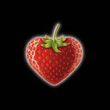 Strawberry hart. Realistic illustration of a hart shaped strawberry Royalty Free Stock Images
