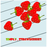 Strawberry heading Stock Photography