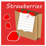 Strawberry heading Royalty Free Stock Photos