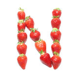 Strawberry health alphabet Stock Image