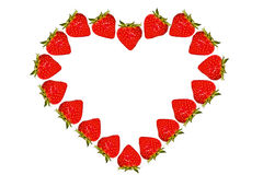 Strawberry heart Royalty Free Stock Image
