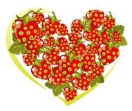 Strawberry heart Royalty Free Stock Photo