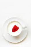 Strawberry heart Stock Photo
