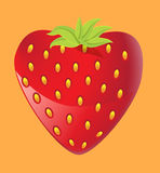 Strawberry heart. Strawberry red heart, Valentine's day card Stock Image