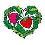 Strawberry heart Stock Image