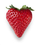 Strawberry Heart. Red heart shaped strawberry Royalty Free Stock Image