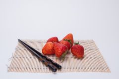 Strawberry. Heart, appearance of strawberry is delicious red tender, juicy flesh, contain special rich fruit aroma. Strawberry high nutritional value, contains Stock Photography