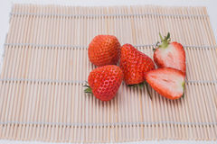 Strawberry. Heart, appearance of strawberry is delicious red tender, juicy flesh, contain special rich fruit aroma. Strawberry high nutritional value, contains Stock Image