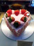 Strawberry Heart Cake Royalty Free Stock Photos