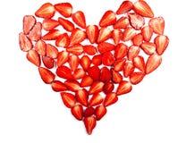Strawberry heart Royalty Free Stock Photography