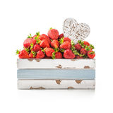 Strawberry with heart Stock Photography