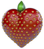Strawberry heart, Heart strawberry Royalty Free Stock Image