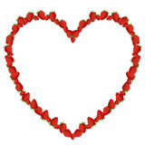 Strawberry heart Royalty Free Stock Images