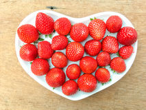 Strawberry in heart Royalty Free Stock Photography