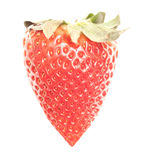 Strawberry heart shape berry Stock Photography
