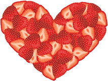 Strawberry Heart Shaped Stock Photography