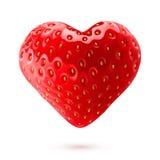 Strawberry heart Stock Photos