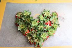 A Strawberry Heart royalty free stock image