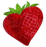 Strawberry Heart Valentine Royalty Free Stock Photos