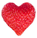 Strawberry heart. Stock Photos