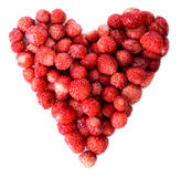 Strawberry heart Stock Photos