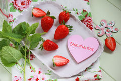 Strawberry heart Stock Photography