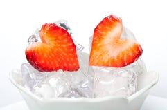 Strawberry hearts Royalty Free Stock Photo