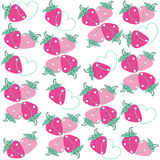 Strawberry hearts vector background Stock Image