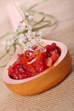 Strawberry and honey face mask Stock Photos
