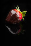 Strawberry in hot chocolate Royalty Free Stock Image