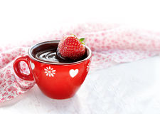 Strawberry hot Chocolate Stock Photography