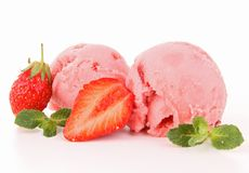 Strawberry ice cream Royalty Free Stock Photo