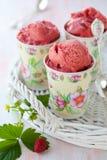 Strawberry Ice Cream Stock Images