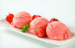 Strawberry ice cream Stock Image